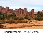 ait benhaddou kasbah at sunset... | Shutterstock . vector #790019596