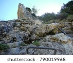 rock itinerary via ferrata  | Shutterstock . vector #790019968