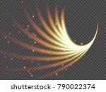 transparent light effect... | Shutterstock .eps vector #790022374