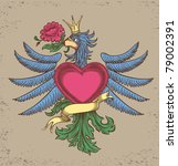 emblem with an eagle  all the... | Shutterstock .eps vector #79002391