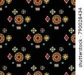 original mosaic drawing tribal... | Shutterstock .eps vector #790028434