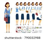 businesswoman   vector cartoon... | Shutterstock .eps vector #790032988