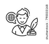 biography   modern single line... | Shutterstock . vector #790033168