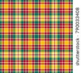 seamless colorful bright plaid... | Shutterstock . vector #790033408