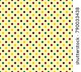 seamless polka dot pattern | Shutterstock . vector #790033438