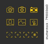 photography icon   photography... | Shutterstock .eps vector #790033660