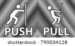 push and pull icon  vector ... | Shutterstock .eps vector #790034128