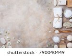 spa and beauty conceptual stone ... | Shutterstock . vector #790040449