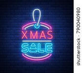 xmas sale  christmas discount... | Shutterstock . vector #790040980
