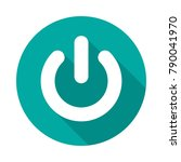 power button circle icon with...   Shutterstock .eps vector #790041970