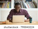 smiling african american man... | Shutterstock . vector #790043224