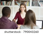 smiling confident female... | Shutterstock . vector #790043260