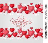 happy valentines day card... | Shutterstock .eps vector #790043788