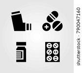 medical vector icons set.... | Shutterstock .eps vector #790047160