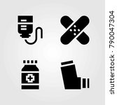 medical vector icons set. patch ... | Shutterstock .eps vector #790047304