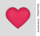 heart isolated on a transparent ... | Shutterstock .eps vector #790047430