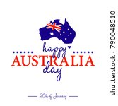 happy 26th of january   happy... | Shutterstock .eps vector #790048510
