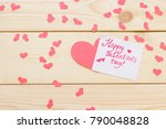 valentine's concept with a note ... | Shutterstock . vector #790048828
