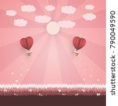 happy valentine s day concept.... | Shutterstock .eps vector #790049590