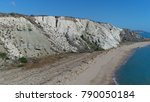 aerial photo of white cliffs...   Shutterstock . vector #790050184
