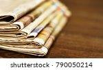 pile of fresh morning... | Shutterstock . vector #790050214