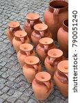 Small photo of Clay Pots in Evora; Portugal