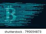 bitcoin digital cryptocurrency... | Shutterstock .eps vector #790054873