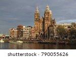 amsterdam  the netherlands  ... | Shutterstock . vector #790055626