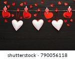 valentine gift making  diy... | Shutterstock . vector #790056118