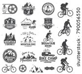 set of mountain biking clubs... | Shutterstock .eps vector #790056550