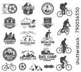 set of mountain biking clubs... | Shutterstock .eps vector #790056550