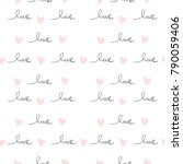 romantic seamless pattern with...