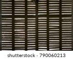 wood shutters wooden texture in ... | Shutterstock . vector #790060213