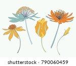 springtime flower vector... | Shutterstock .eps vector #790060459