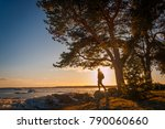 young man stand under the tree... | Shutterstock . vector #790060660