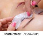 eyelash extension procedure...   Shutterstock . vector #790060684