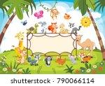 animals banner vector...   Shutterstock .eps vector #790066114