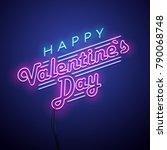 valentines day background.... | Shutterstock .eps vector #790068748