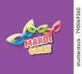 vector  new orleans mardi gras... | Shutterstock .eps vector #790069360