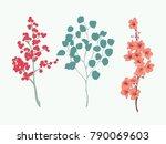 cherry blossom vector element...   Shutterstock .eps vector #790069603