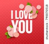 valentine s day background.... | Shutterstock .eps vector #790070518