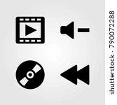 multimedia vector icons set.... | Shutterstock .eps vector #790072288