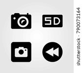 multimedia vector icons set.... | Shutterstock .eps vector #790073164