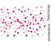 heart confetti background for... | Shutterstock .eps vector #790074286