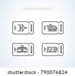 vector transportation tickets...   Shutterstock .eps vector #790076824