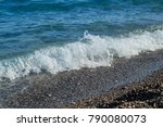 close view of sea water wave...   Shutterstock . vector #790080073