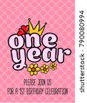 birthday princess card... | Shutterstock .eps vector #790080994