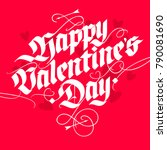 vintage style lettering... | Shutterstock .eps vector #790081690