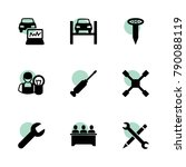 workshop icons. vector...