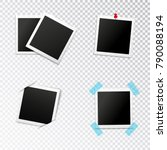 photo frames set with insertion ... | Shutterstock .eps vector #790088194